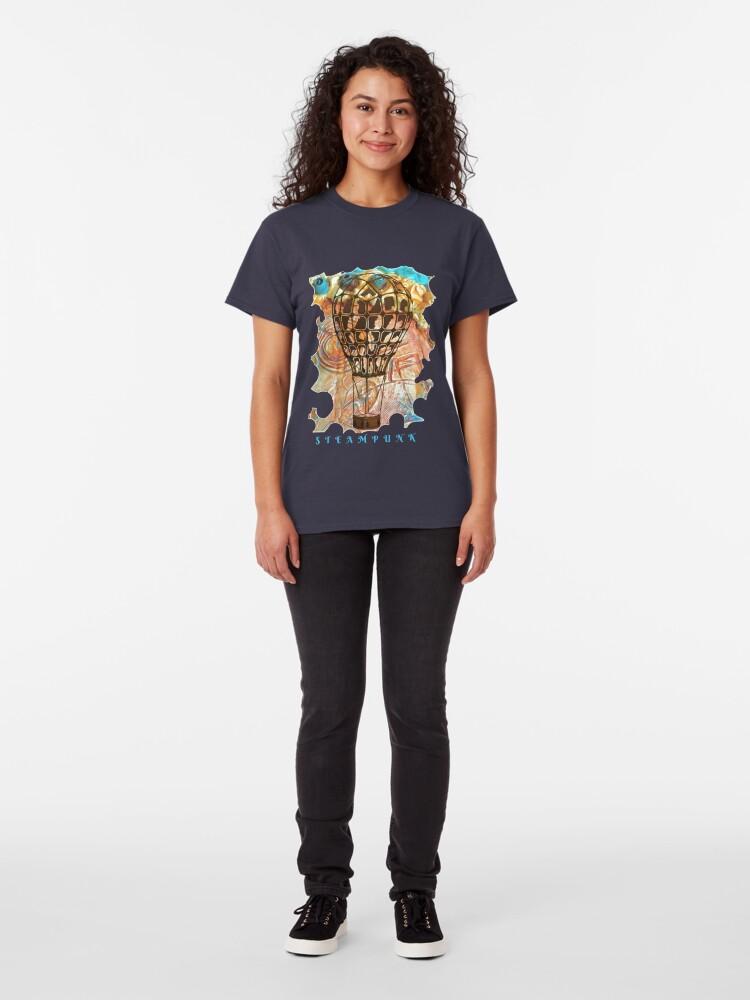 Alternate view of STEAMPUNK AIRSHIP BALLOON Classic T-Shirt