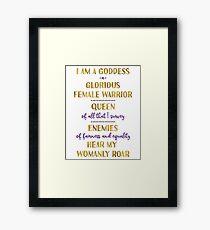 Pawnee Goddess Oath Framed Print