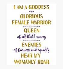 Pawnee Goddess Oath Photographic Print
