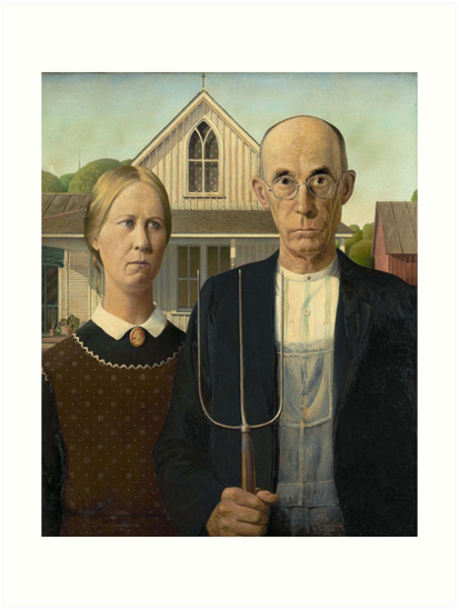 American Gothic Painting By Grant Wood Art Institute Of