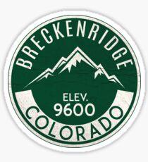 BRECKENRIDGE COLORADO Ski Skiing Mountain Mountains Skiing River Skis Silhouette Snowboard Snowboarding 3 Sticker