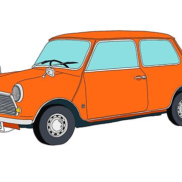 Orange Mini Cooper by m-lapino