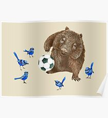 Wrens football Wombat Poster