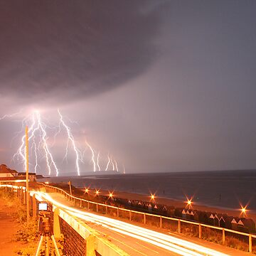 Lightning Strikes the Isle of Wight by TinaPope