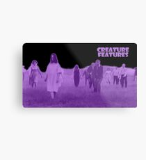 Night of the Living Dead Zombies Metal Print