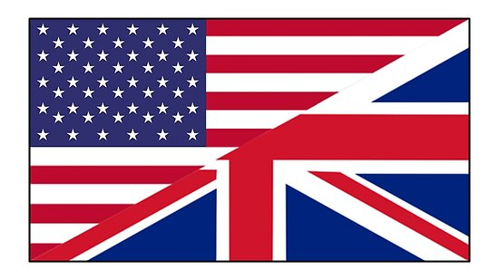 Quot Anglo American Flag Usa America Great Britain Union