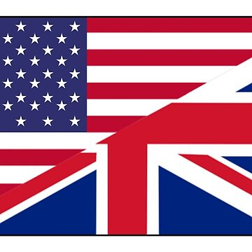 ANGLO, AMERICAN, FLAG, USA, America, Great Britain, Union Jack, Stars & Stripes by TOMSREDBUBBLE