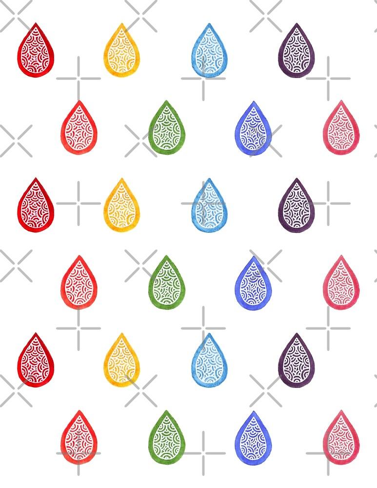 Rainbow raindrops by savousepate