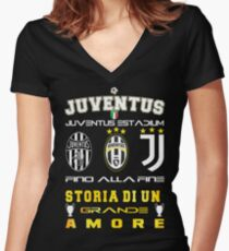 Juventus Turin  Italy Women's Fitted V-Neck T-Shirt