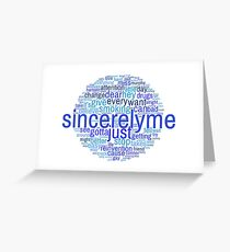 Word Cloud- Sincerely Me Greeting Card