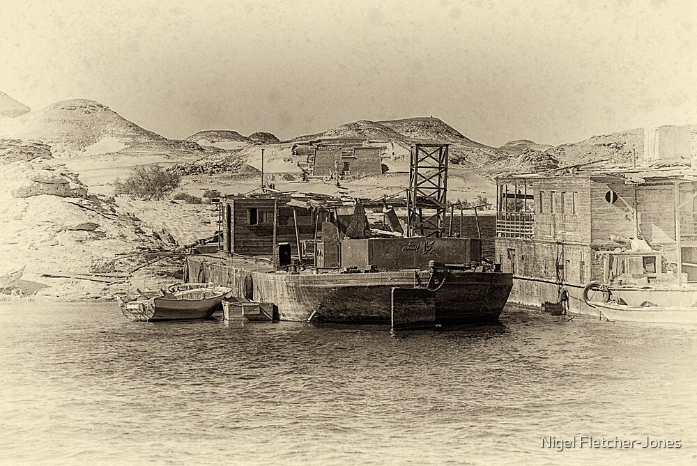 Wadi al-Sebua Antiqued by Nigel Fletcher-Jones