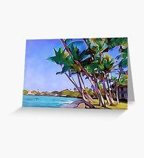 Kona Inn Sea Wall Greeting Card