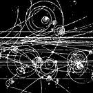 Particle tracks (dark) by Kip Stewart