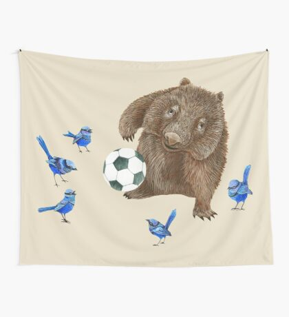 Wrens football Wombat Wall Tapestry