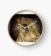 Black Madonna Vilnius Lithuania Clock