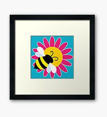 Bumble Bee on Flower Framed Print