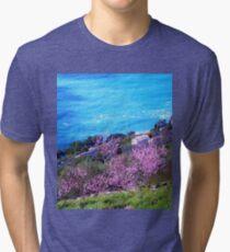 Violet & blue Tri-blend T-Shirt