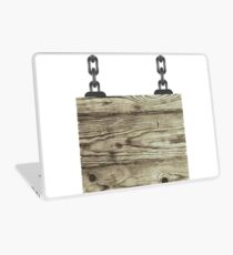 Old Color Wooden Board with Chain Laptop Skin