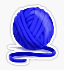 Ball of Blue Yarn Sticker