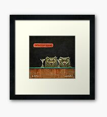 Will Bullas  art print / the hooters... / humor / animals Framed Print