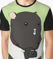 Hamster Photographer Graphic T-Shirt