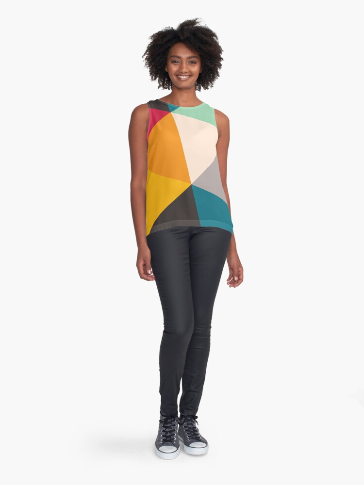 Alternate view of Triangles (2012) Sleeveless Top