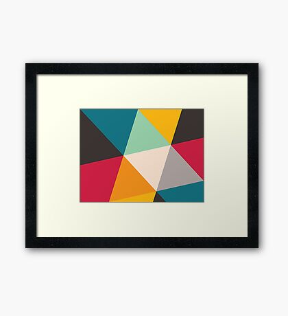 Triangles (2012) Framed Print