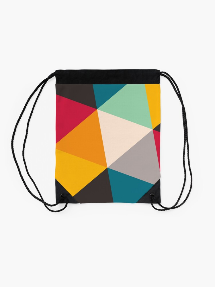 Alternate view of Triangles (2012) Drawstring Bag