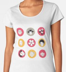 Hand drawn Japan and Asia design elements collection Women's Premium T-Shirt