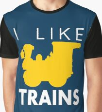 Rail King, I like trains Graphic T-Shirt