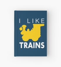 Rail King, I like trains Hardcover Journal