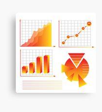 info graphic elements Canvas Print