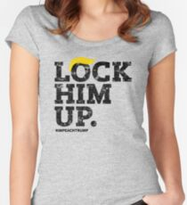 Lock Him Up. Impeach Trump Women's Fitted Scoop T-Shirt