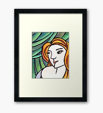 Green Self Portrait, Lux Framed Print