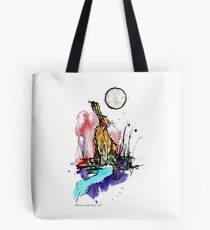 Full Moon Hare Tote Bag