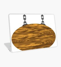 wood board and chain Laptop Skin