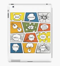 Reading Is My Super Power Well That And Flying for Comic Book & Graphic Novel Fans iPad Case/Skin