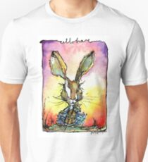 Cello Hare Watercolour and ink T-Shirt