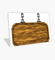 wooden sign Laptop Skin