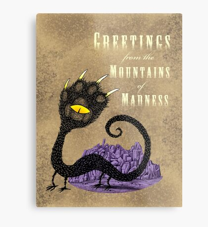 Haunted Greetings from the Mountains of Madness Metal Print