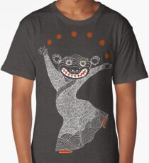Ghost Tiger Juggler with Red Shoes Long T-Shirt
