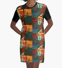 At the Cafe Graphic T-Shirt Dress