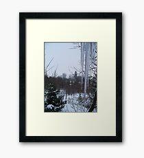 February Icicles Framed Print