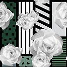 Floral geometric pattern by Olga Altunina