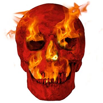 Red Hot Flaming Skull by nicochristo