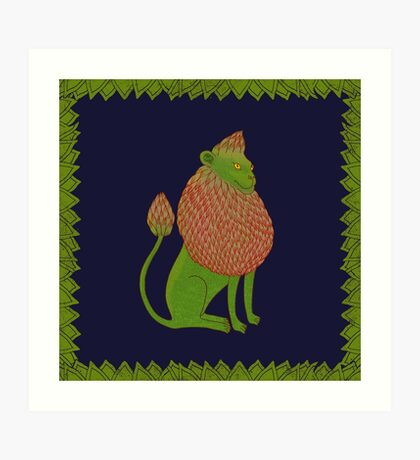 Asparagus Lion, King of the Vegetables Art Print