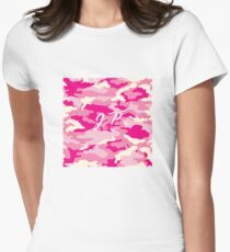 Jake Paul Pink Camo Womens Fitted T-Shirt