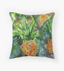 Maui Pineapples Throw Pillow