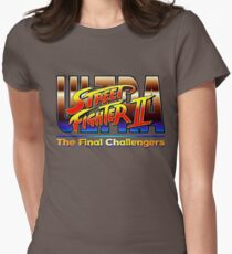 Ultra Street Fighter The Final Challengers Womens Fitted T-Shirt