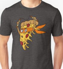 Orange Ninja Pizza Unisex T-Shirt